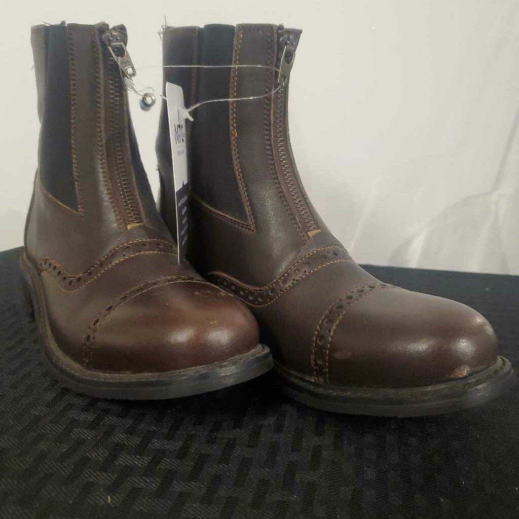 Brown Zip Boots 6