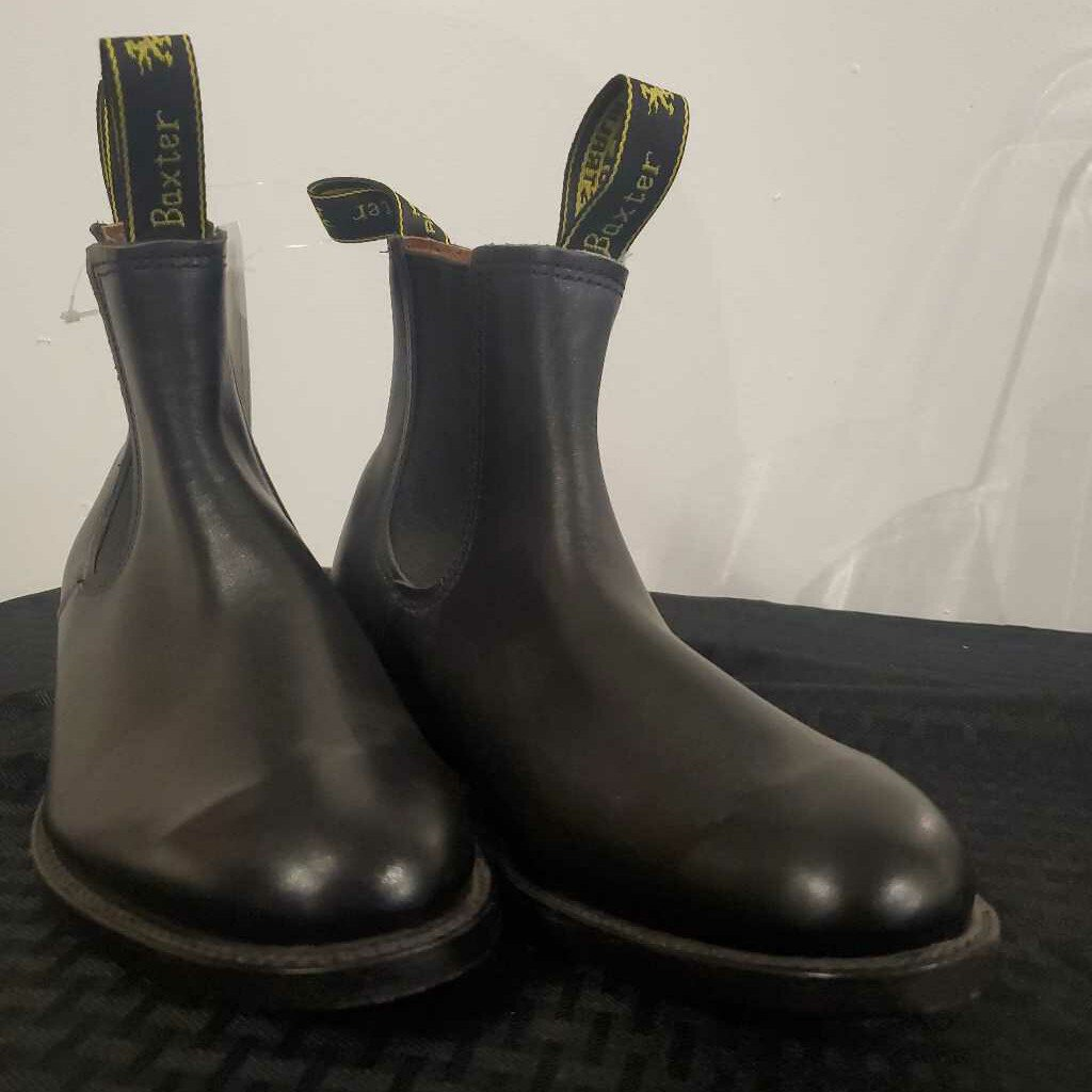 Black Leather Boots 9 1/2