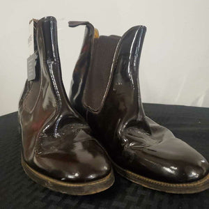 Brown Patent Leather Boots 9