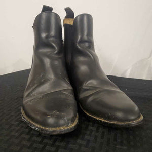 Black Leather Boots 8 1/2