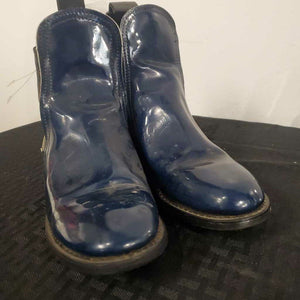 Blue Patent Leather Boot 5 1/2
