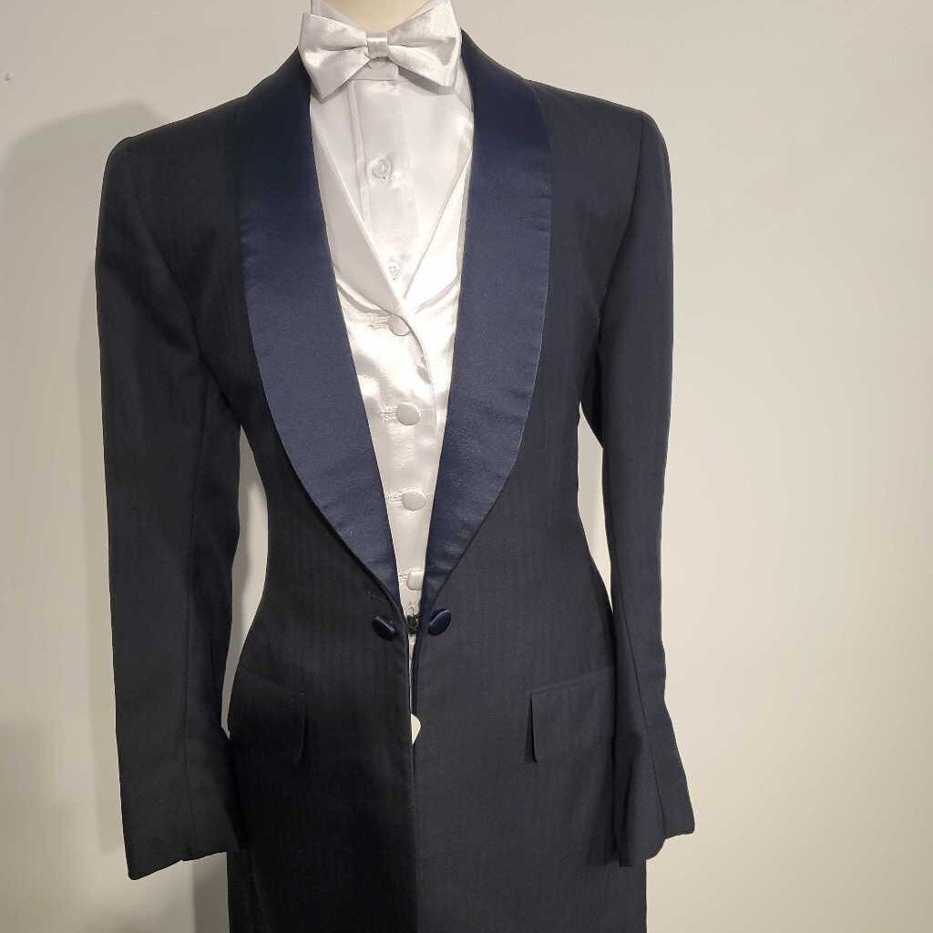 Navy Striped Formal Tux