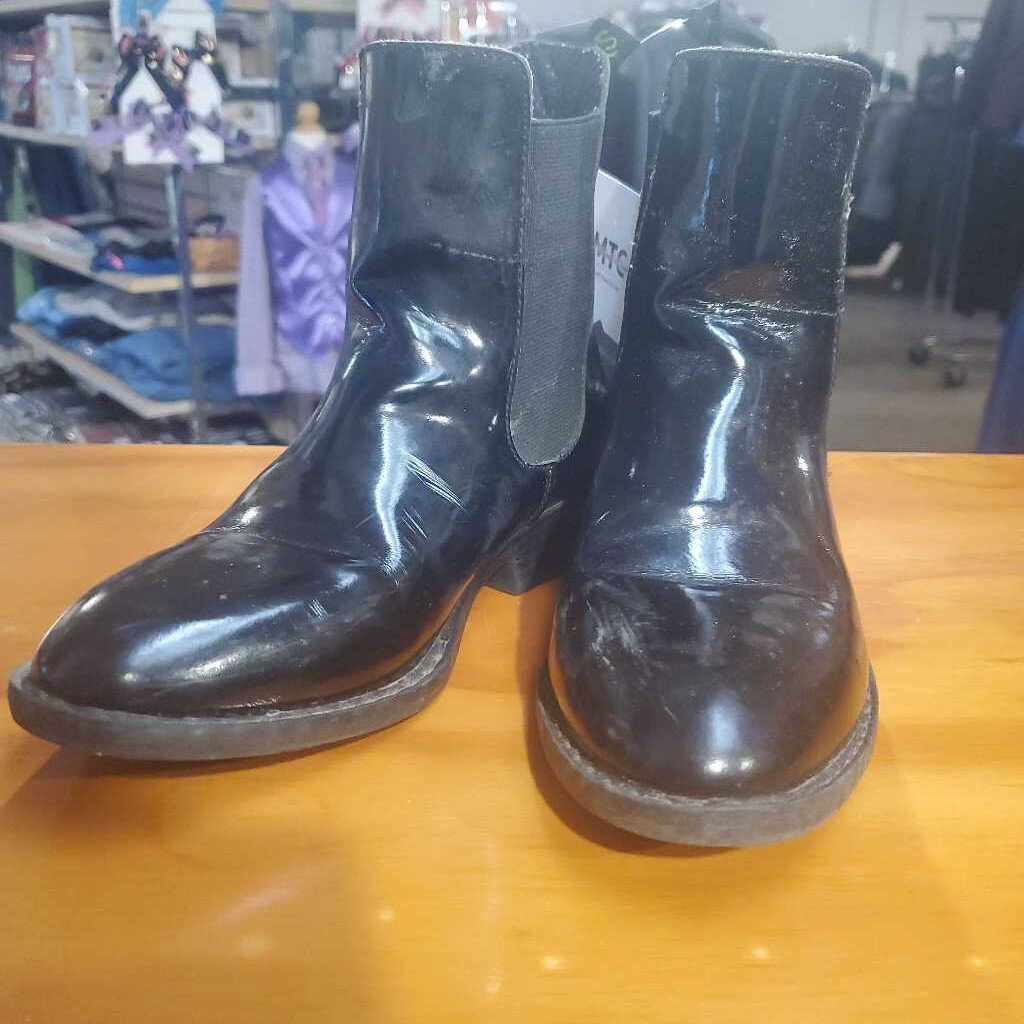 Black Patent Leather Boots 2