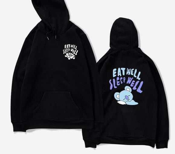 BTS BT21 Koya Eat Well Sleep Well Hoodie