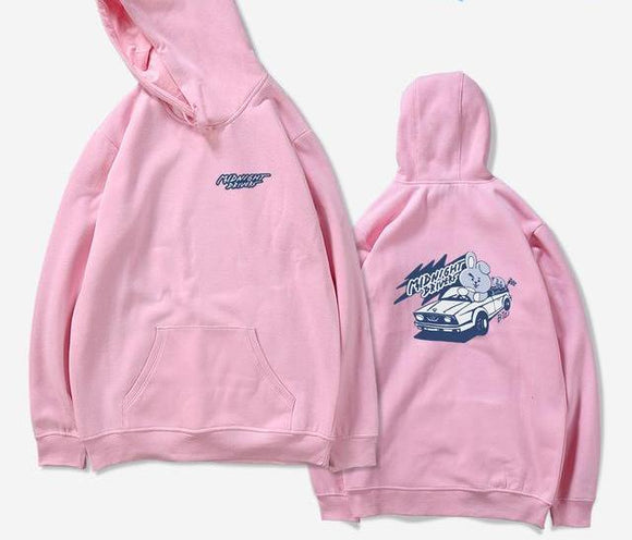 BTS BT21 Cooky Midnight Drivers Hoodie