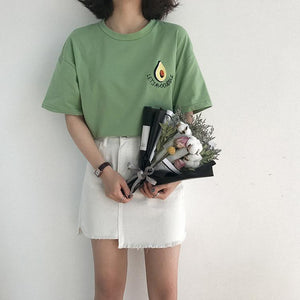 Avocuddle Embroidery Tee