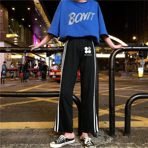 BTS Wide Straight Sweatpants