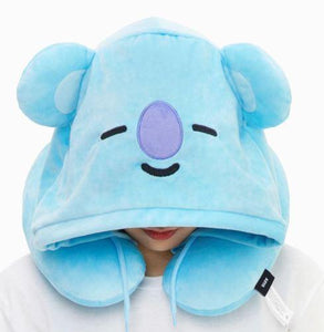 BTS BT21 Hooded Neck Cushion Pillow