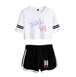 BTS Save Me Crop Top & Short Set
