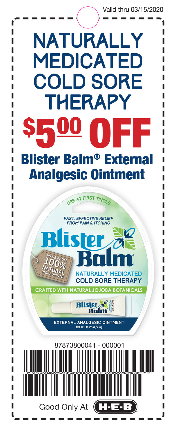 Blister Balm - HEB Coupon (Expires: 3/15/2020)