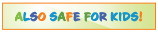 Also Safe for Kids Logo