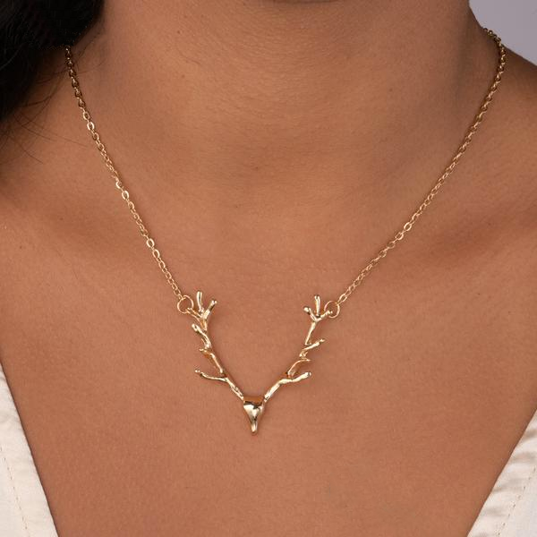 Deer Antlers Necklace