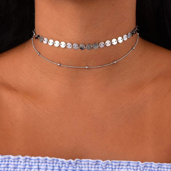 Round Bead Layer Choker Necklace