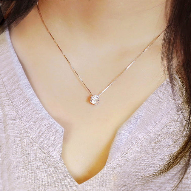 Simple Zircon Necklace