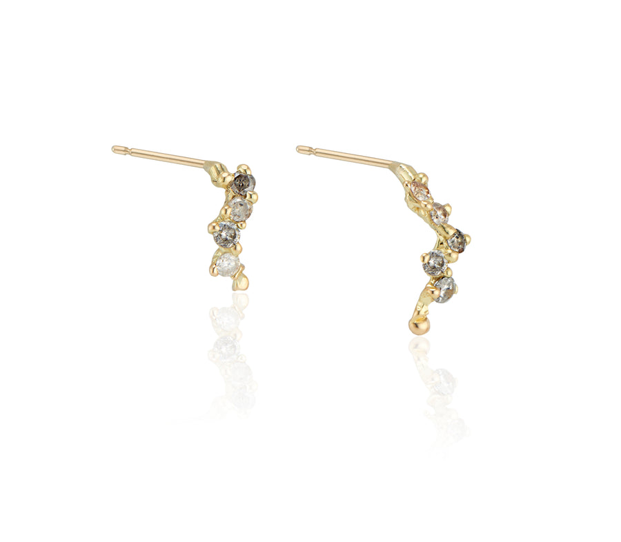 Staggered Grey Diamond Earrings