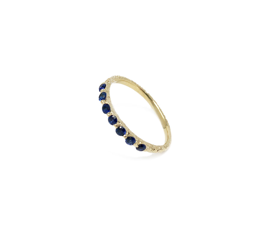 Dainty stackable ring, set with 2mm royal blue sapphires, cast not set #castnotset dainty sapphire ring sapphire eternity ring unique hand made sapphire ring jayne moore jewelry jane moore jayne moore nyc model jewelry