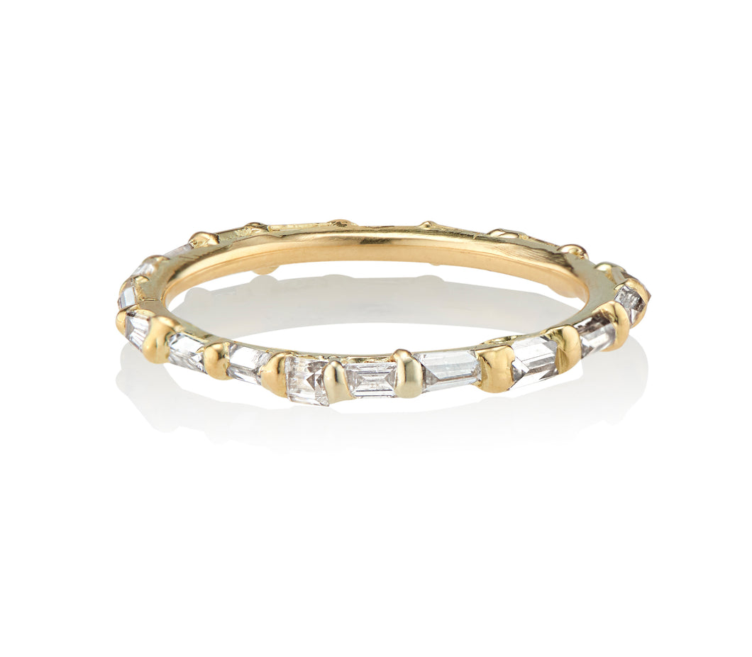 Baguette Diamond Eternity Ring 18kt Yellow Gold