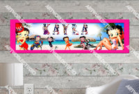Personalized/Customized Betty Boop Poster, Border Mat and Frame Options Banner 101