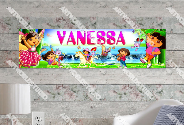 Personalized/Customized Dora #1 Poster, Border Mat and Frame Options Banner 106