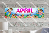 Personalized/Customized Dora Mermaid #3 Poster, Border Mat and Frame Options Banner 106-3