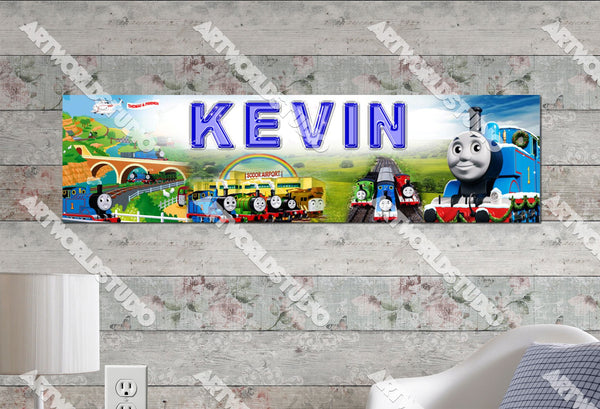 Personalized/Customized Thomas the Train Poster, Border Mat and Frame Options Banner 110