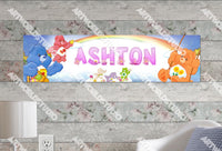 Personalized/Customized Care Bear Poster, Border Mat and Frame Options Banner 114