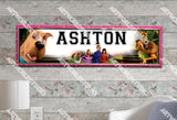 Personalized/Customized Scooby-Doo Poster, Border Mat and Frame Options Banner 116