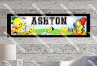 Personalized/Customized Tweety Bird Poster, Border Mat and Frame Options Banner 119