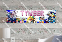 Personalized/Customized Pokemon #1 Poster, Border Mat and Frame Options Banner 122