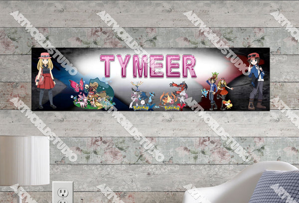 Personalized/Customized Pokemon XY #2 Poster, Border Mat and Frame Options Banner 122-2