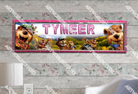 Personalized/Customized Yogi Bear Poster, Border Mat and Frame Options Banner 128