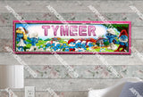 Personalized/Customized The Smurfs Movie Poster, Border Mat and Frame Options Banner 129