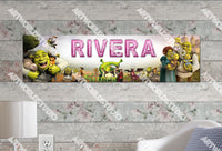 Personalized/Customized Shrek Movie #2 Poster, Border Mat and Frame Options Banner 132-2