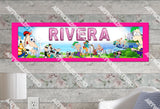 Personalized/Customized Phineas and Ferb Poster, Border Mat and Frame Options Banner 137