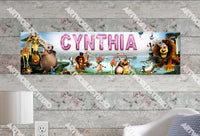 Personalized/Customized Madagascar Movie Poster, Border Mat and Frame Options Banner 138