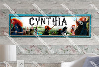 Personalized/Customized Brave Movie Poster, Border Mat and Frame Options Banner 139