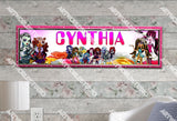 Personalized/Customized Monster High #1 Poster, Border Mat and Frame Options Banner 141