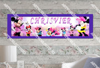 Personalized/Customized Minnie Mouse #2 Poster, Border Mat and Frame Options Banner 143-2