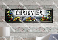 Personalized/Customized Ninja Turtles Poster, Border Mat and Frame Options Banner 145