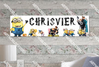 Personalized/Customized Minions Movies #1 Poster, Border Mat and Frame Options Banner 146