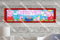 Personalized/Customized Peppa Pig #1 Poster, Border Mat and Frame Options Banner 157