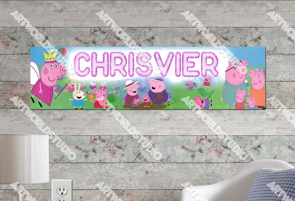 Personalized/Customized Peppa Pig #2 Poster, Border Mat and Frame Options Banner 157-2