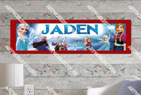 Personalized/Customized Frozen Elsa #3 Poster, Border Mat and Frame Options Banner 159-3