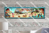 Personalized/Customized Jake and the Neverland Pirates #1 Poster, Border Mat and Frame Options Banner 161