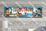 Personalized/Customized Jake and the Neverland Pirates #2 Poster, Border Mat and Frame Options Banner 161-2