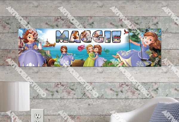 Personalized/Customized Sofia the First #2 Poster, Border Mat and Frame Options Banner 163-2