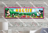 Personalized/Customized Mickey Mouse Poster, Border Mat and Frame Options Banner 164