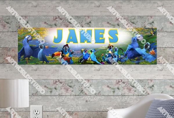 Personalized/Customized Rio 2 Movie Poster, Border Mat and Frame Options Banner 174