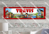 Personalized/Customized Paw Patrol #3 Poster, Border Mat and Frame Options Banner 176-3