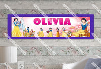 Personalized/Customized Show White and the Seven Dwarfs Poster, Border Mat and Frame Options Banner 180